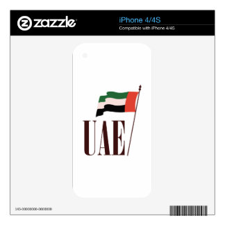 Dubai Flag UAE Skin For iPhone 4S