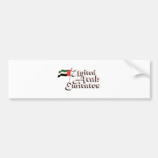 Dubai Flag United Arab Emirates Bumper Sticker