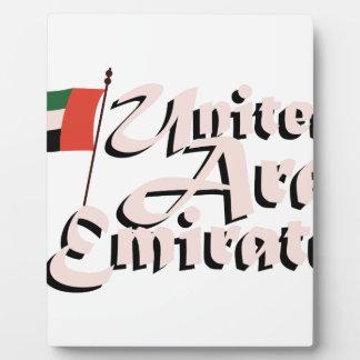 Dubai Flag United Arab Emirates Plaque