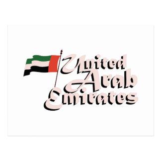 Dubai Flag United Arab Emirates Postcard