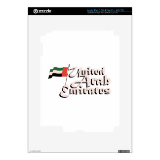Dubai Flag United Arab Emirates Skins For iPad 3