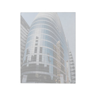 Dubai glass skyscraper notepad