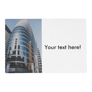 Dubai glass skyscraper placemat