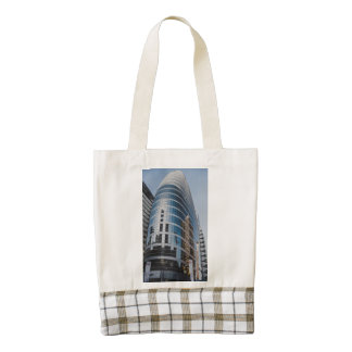 Dubai glass skyscraper zazzle HEART tote bag