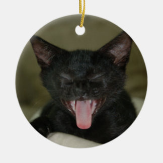Dubai Kitten-Sticking out his tongue Christmas Ornaments