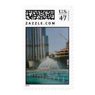 Dubai Mall fountain Postage Stamp