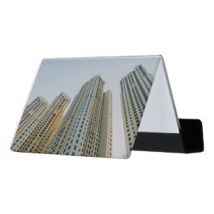 Dubai business card holders cases zazzle dubai marina architecture desk business card holder reheart Gallery