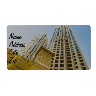 Dubai Marina architecture Label