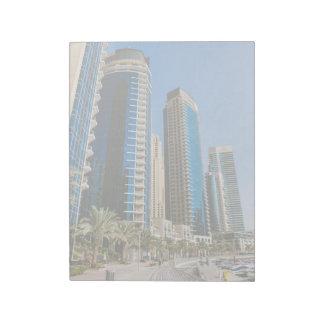 Dubai Marina skyscrapers Note Pad