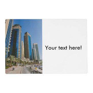 Dubai Marina skyscrapers Placemat