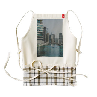 Dubai Marina skyscrapers Zazzle HEART Apron