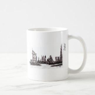 dubai classic white coffee mug