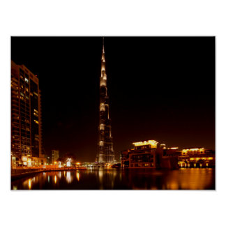 Dubai por el poster de la noche póster