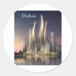 Dubai se eleva (por St.K) Etiqueta Redonda