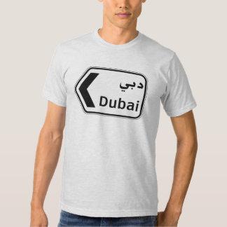 Dubai, señal de tráfico, United Arab Emirates Playera