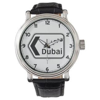 Dubai, señal de tráfico, United Arab Emirates Reloj De Mano