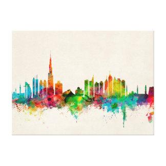 Dubai Skyline Stretched Canvas Prints