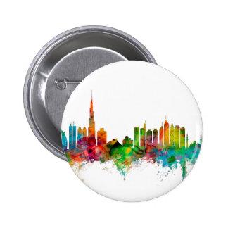 Dubai Skyline Pinback Button