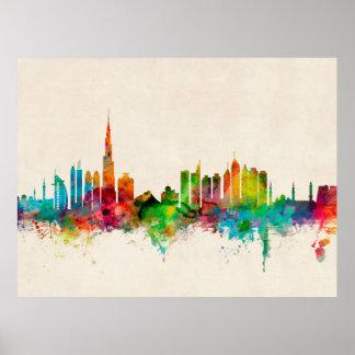 Dubai Skyline Print