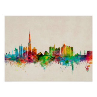 Dubai Skyline Posters