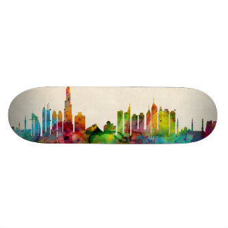 Dubai Skyline Skateboard Deck