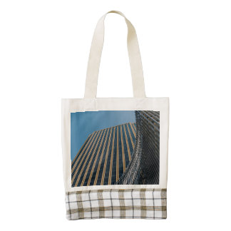Dubai skyscraper zazzle HEART tote bag