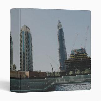Dubai skyscrapers 3 ring binder