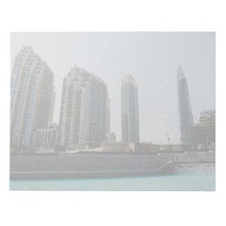 Dubai skyscrapers notepad