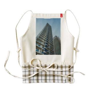 Dubai skyscrapers zazzle HEART apron