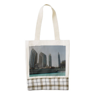 Dubai skyscrapers zazzle HEART tote bag