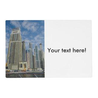 Dubai skyscrappers placemat