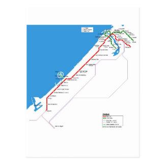 Dubai subway system postcard