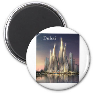 dubai Towers (by St.K) 2 Inch Round Magnet