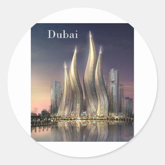 dubai Towers (by St.K) Classic Round Sticker