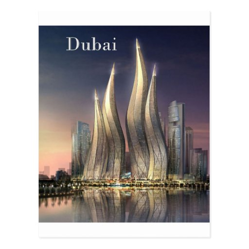 dubai Towers (by St.K) Postcard