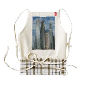 Dubai twisted tower zazzle HEART apron