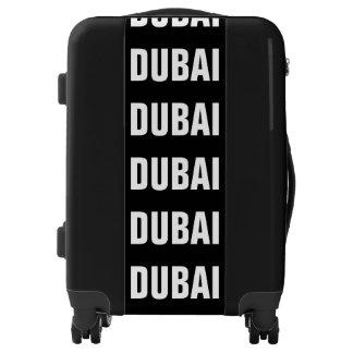 DUBAI, Typo white / black Luggage