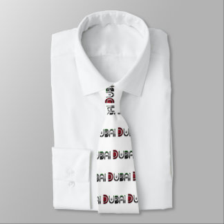 Dubai UAE Typography Elegant Text Only Tie