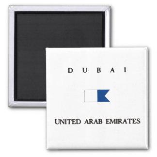 Dubai United Arab Emirates Alpha Dive Flag Magnets