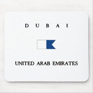 Dubai United Arab Emirates Alpha Dive Flag Mouse Pad