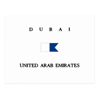 Dubai United Arab Emirates Alpha Dive Flag Postcard