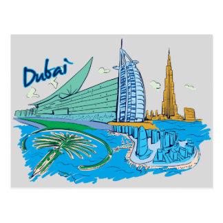 Dubai, United Arab Emirates Famous City Postcard