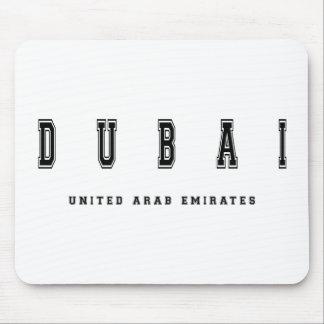 Dubai United Arab Emirates Mouse Pad