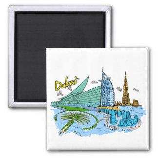 Dubai - United Arab Emirates png Fridge Magnet