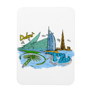 Dubai - United Arab Emirates png Rectangle Magnet