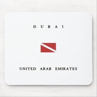 Dubai United Arab Emirates Scuba Dive Flag Mouse Pad