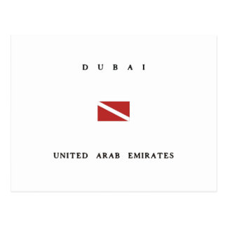 Dubai United Arab Emirates Scuba Dive Flag Postcard