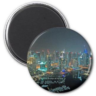 Dubai United Arab Emirates skyline at night Magnet