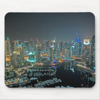 Dubai, United Arab Emirates skyline at night Mouse Pad