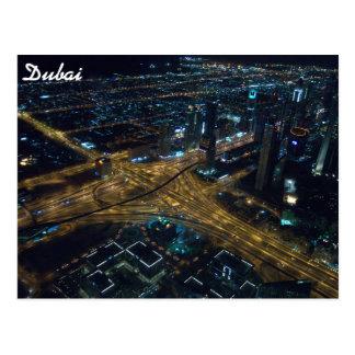 Dubai, United Arab Emirates skyline at night Postcard